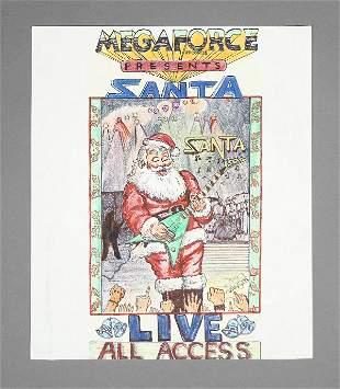 Megaforce Records All Access Original Artwork