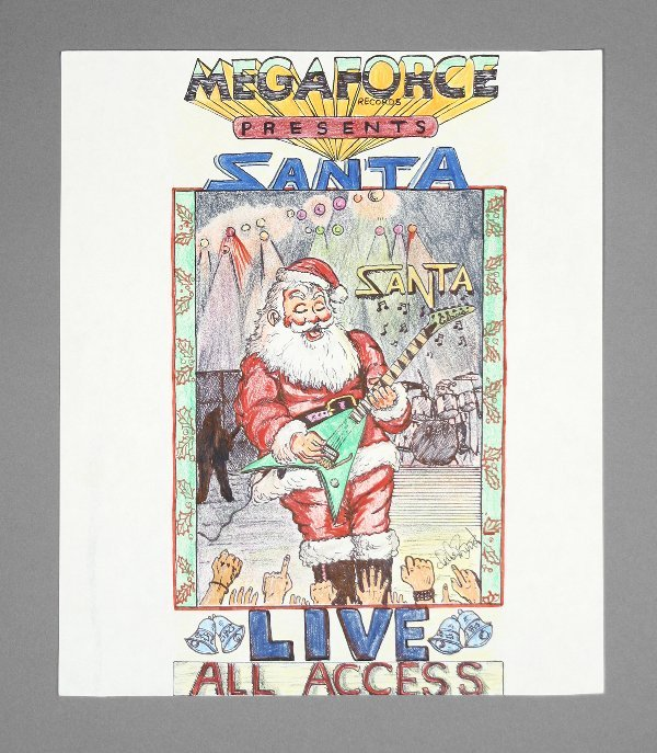 24: Megaforce Records All Access Original Artwork