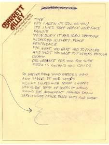 51: Metallica Lars Ulrich Handwritten The Four Horsemen