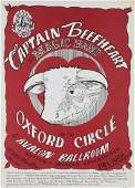CAPTAIN BEEFHEART  OXFORD CIRCLE CONCERT POSTER