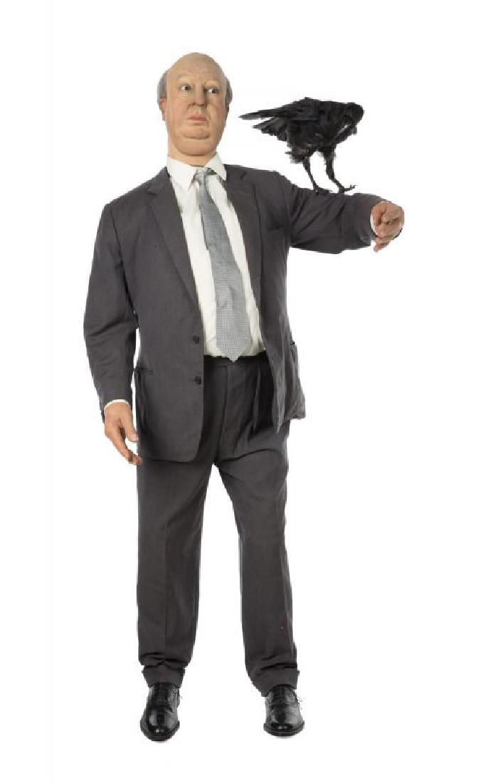 ALFRED HITCHCOCK LIFE-SIZE WAX MANNEQUIN