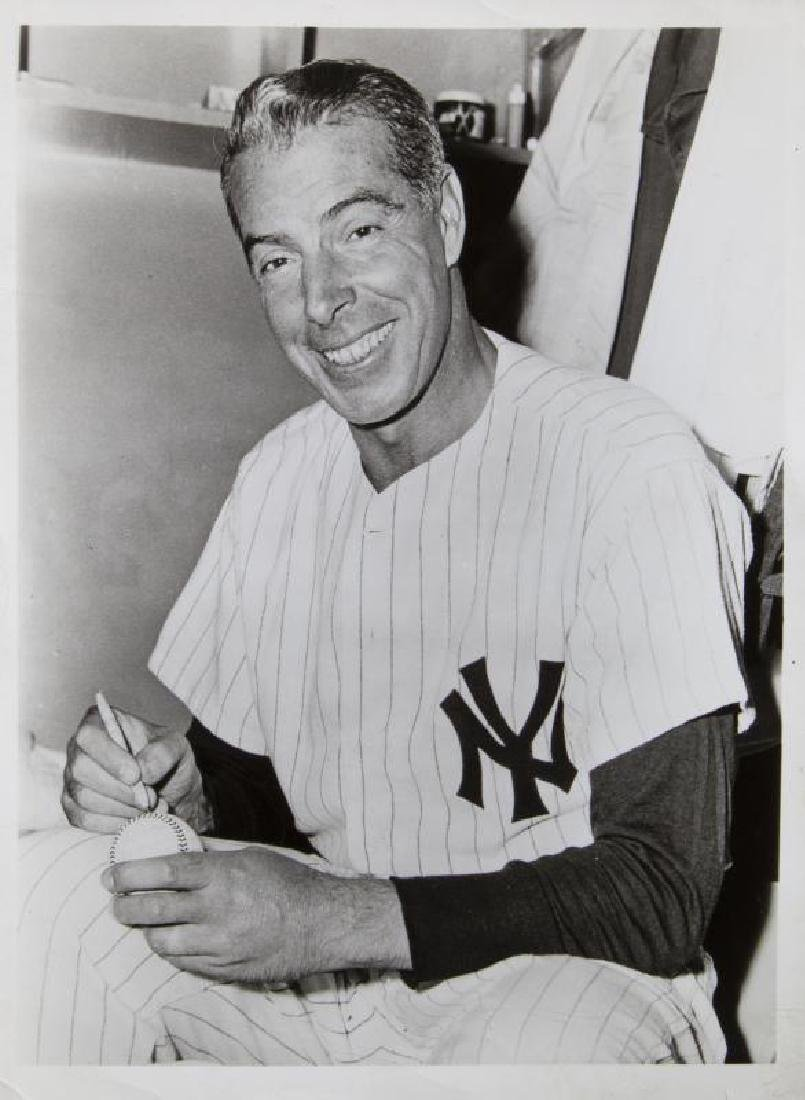 MARILYN MONROE OWNED PHOTOGRAPH OF JOE DiMAGGIO IN NEW