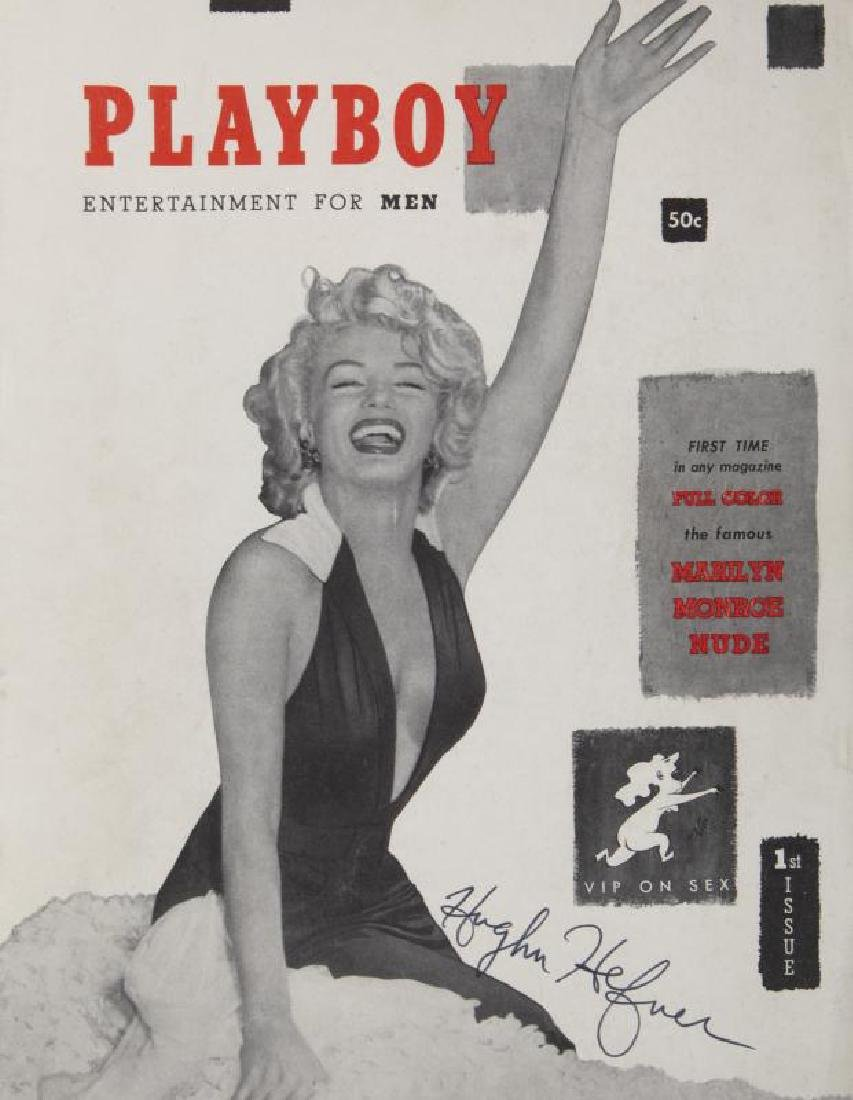 HUGH HEFNER SIGNED PREMIERE ISSUE OF PLAYBOY MAGAZINE