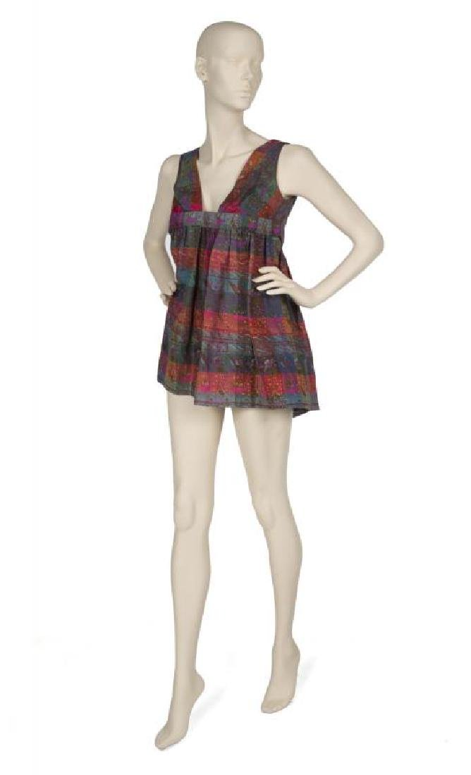 SHARON TATE SILK BABY DOLL DRESS