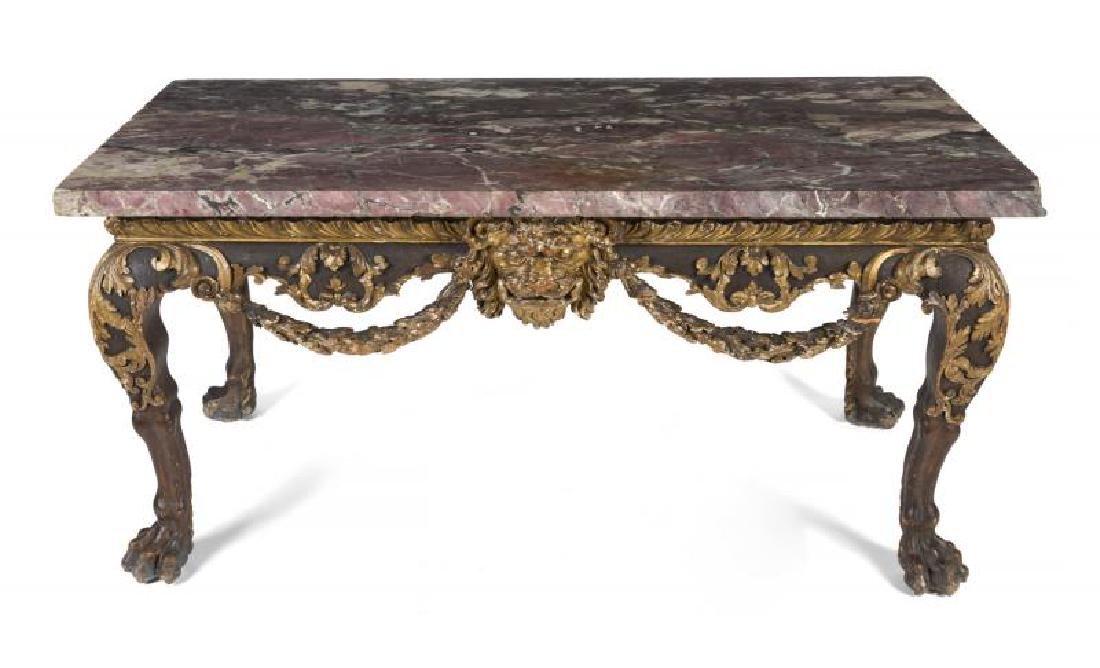 HUGH HEFNER GEORGE II STYLE CONSOLE TABLE