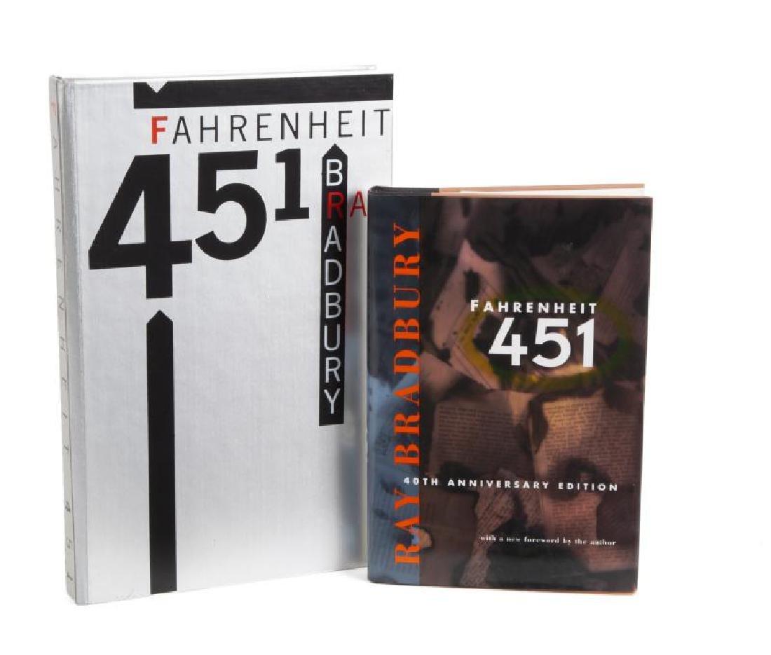 HUGH HEFNER RAY BRADBURY SIGNED FAHRENHEIT 451