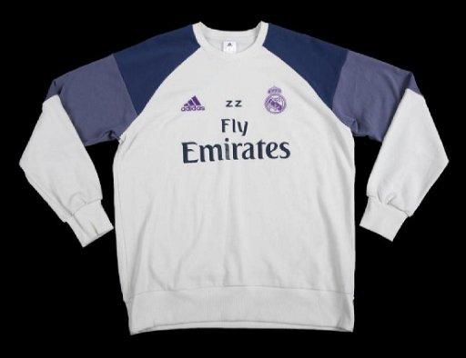 online store c2bbd 11fbf ZINEDINE ZIDANE REAL MADRID TRAINING WORN SWEATER