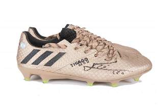 LIONEL MESSI 500TH GOAL SIGNED AND MATCH WORN BOOTS
