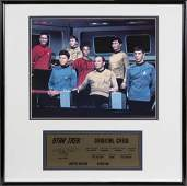 STAR TREK CAST SIGNED PHOTOGRAPH