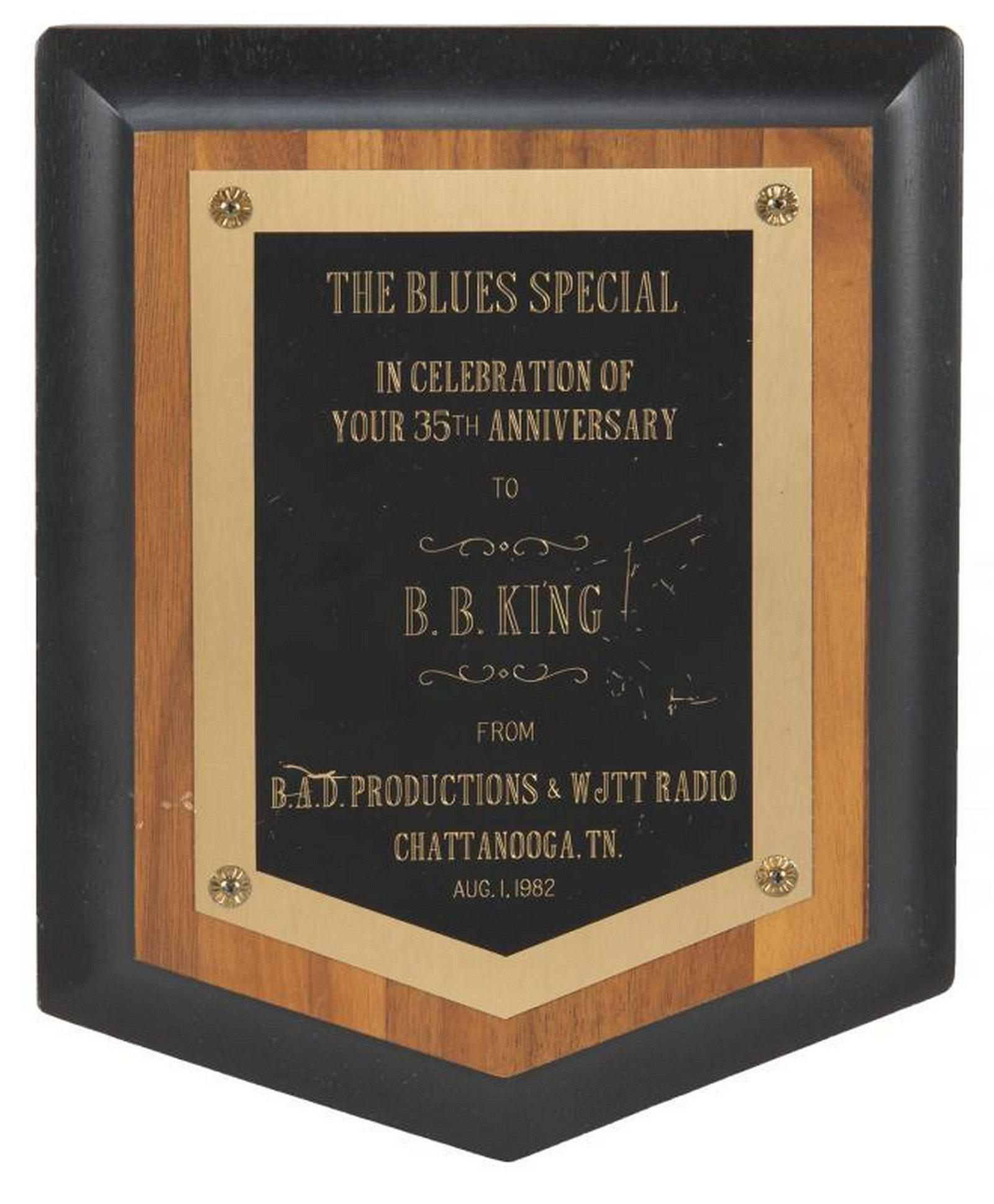 B.B. KING AWARD PLAQUES