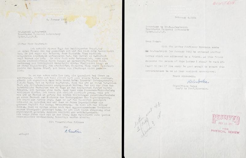 ALBERT EINSTEIN TYPED SIGNED LETTER WITH ENGLISH