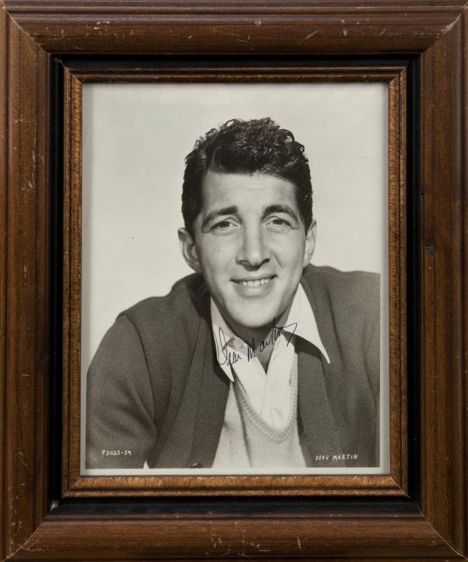 DEAN MARTIN SIGNED BLACK AND WHITE PHOTOGRAPH