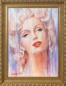 MARILYN MONROE ACRYLIC PAINTING BY BARRY LEIGHTONJONES