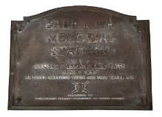 BABE RUTH MEMORIAL STADIUM PLAQUE
