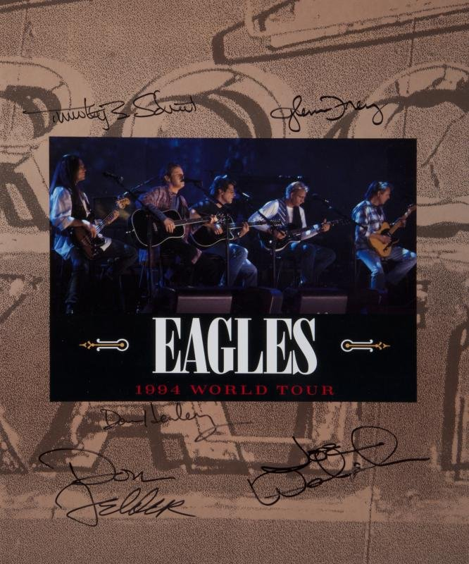 THE EAGLES BAND SIGNED TOUR BOOK •