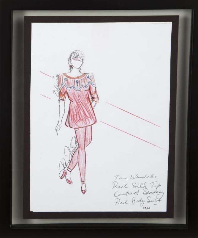 OLIVIA NEWTON-JOHN FLEUR THIEMEYER COSTUME SKETCH
