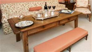 SINATRA FRENCH PROVINCIAL STYLE FRUITWOOD COFFEE TABLE