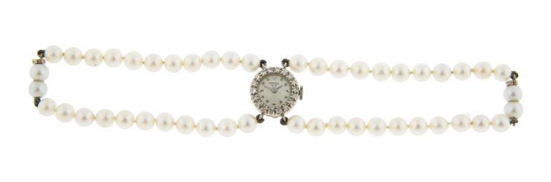 SINATRA MOVIGA LADY'S DIAMOND, CULTURED PEARL AND WHITE
