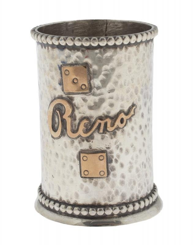SINATRA HENRY'S RENO ROSE GOLD AND STERLING SILVER DICE