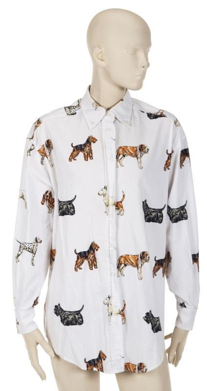 DORIS DAY 1990s-ERA CUTE DOG BLOUSE