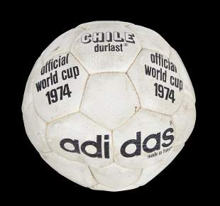 1974 FIFA WORLD CUP MATCH USED FOOTBALL