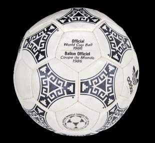 1986 FIFA WORLD CUP MATCH USED FOOTBALL