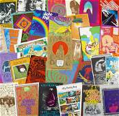COLLECTION OF RARE 1960s ACID ROCK POSTCARDS AND MINI