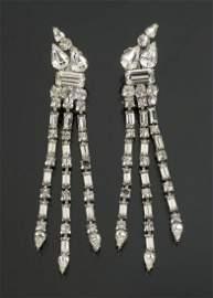 MARILYN MONROE SIMULATED DIAMOND EARRINGS