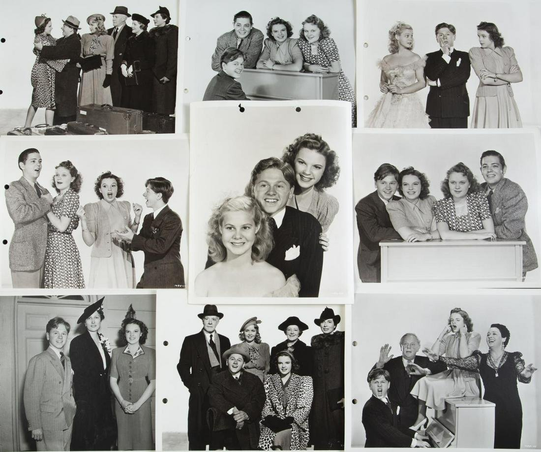 MICKEY ROONEY AND JUDY GARLAND WITH OTHERS 1940s-ERA