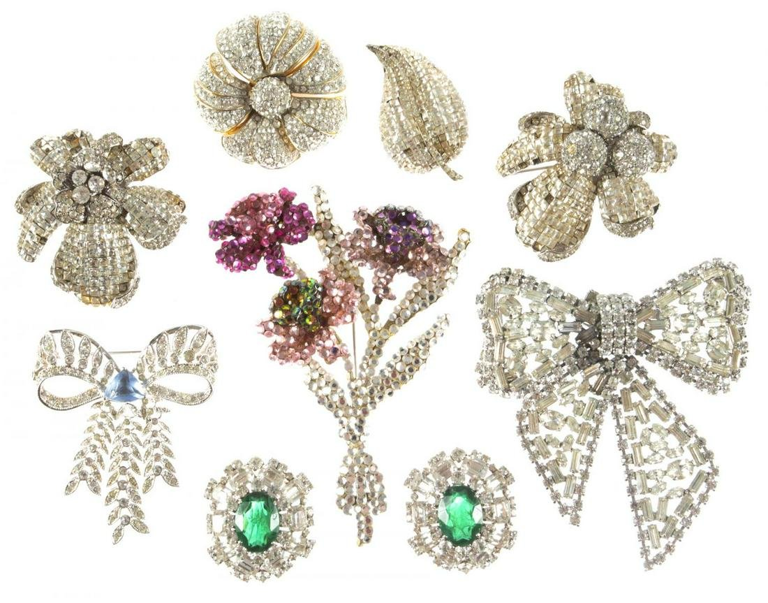ZSA ZSA GABOR COLLECTION OF COSTUME BROOCHES