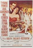 ROBERT EVANS FILM POSTER FROM THE SUN ALSO RISES