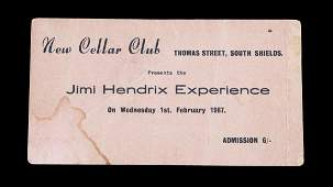 VERY EARLY NAMED JIMI HENDRIX NEW CELLAR CLUB CONCERT T