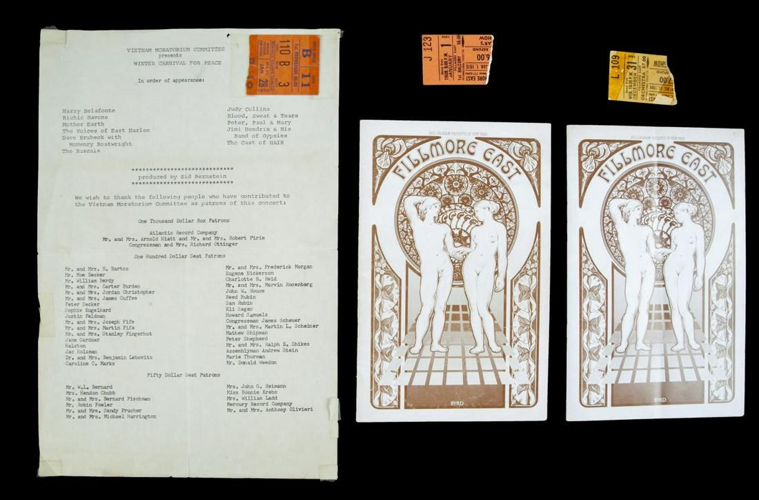 COMPLETE SET OF THREE TICKETS, PROGRAM AND FLYER FOR AL