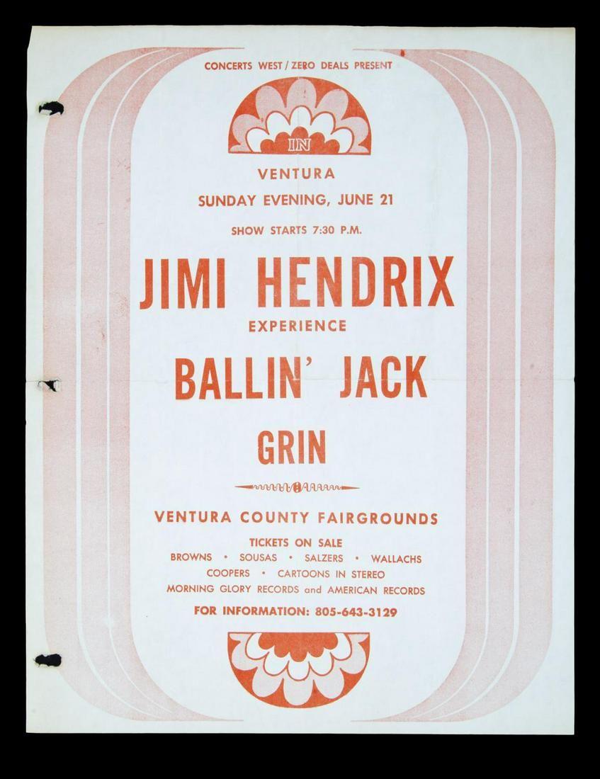 JIMI HENDRIX EXPERIENCE VENTURA FAIRGROUNDS CONCERT