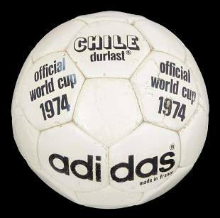 1974 FIFA WORLD CUP MATCH USED BALL
