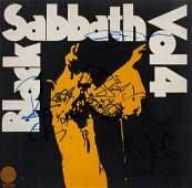 BLACK SABBATH SIGNED RECORD ALBUM SLEEVE