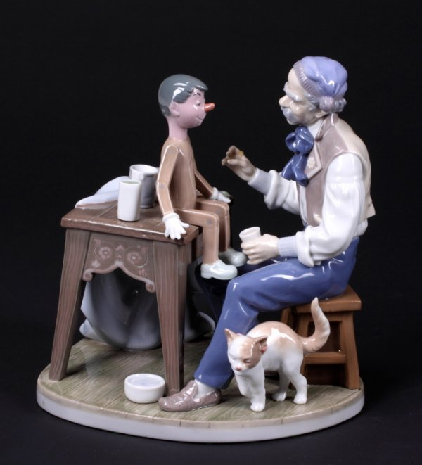 336: LLADRO FIGURAL GROUP - GEPETTO AND PINOCCHIO