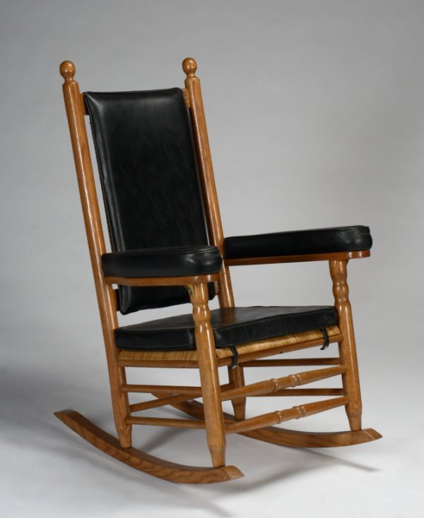 480: KENNEDY CANED ROCKING CHAIR