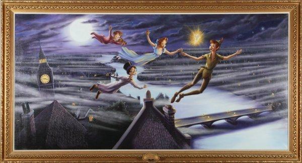 1078: WALT DISNEY WORLD PAINTING OF PETER PAN