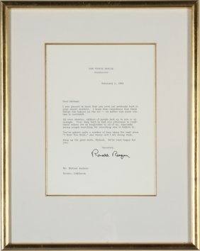 1099: RONALD REAGAN LETTER TO MICHAEL JACKSON