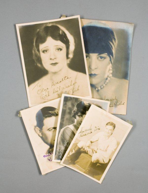 3: SILENT FILM STAR SIGNED PHOTOGRAPHS