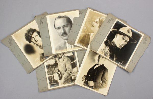 5: SILENT FILM STAR PROMOTIONAL PHOTOGRAPHS