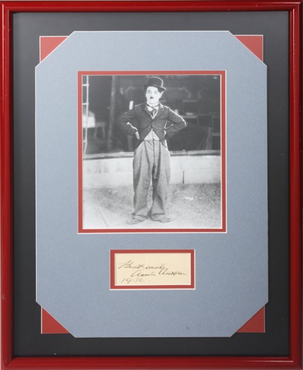 7: CHARLIE CHAPLIN SIGNATURE FROM 1932