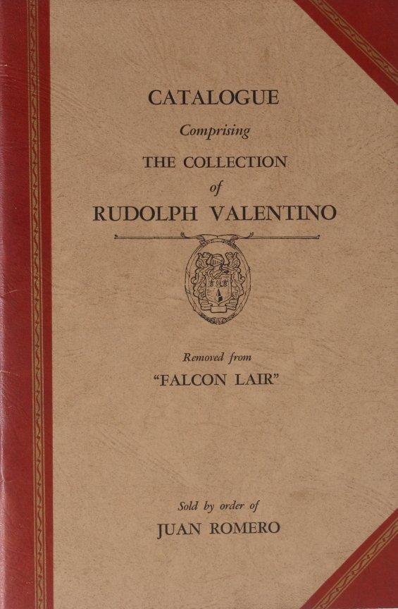 10: RUDOLPH VALENTINO AUCTION CATALOG, 1945