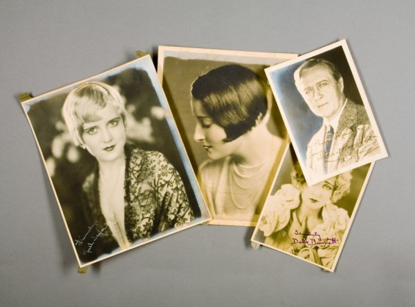 13: FOUR PHOTOGRAPH SIGNED BY SILENT FILM STARS