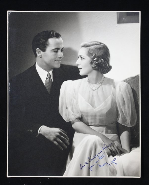 23: MARY PICKFORD & BUDDY ROGERS INSCRIBED PHOTOGRAPH