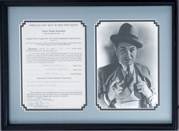 129: EDWARD G. ROBINSON SIGNED CONTRACT