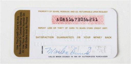 160: MARLON BRANDO CREDIT CARD