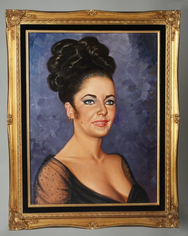 182: ELIZABETH TAYLOR PAINTING OWNED BY RICHARD BURTON