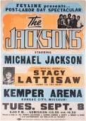 322: THE JACKSONS TRIUMPH TOUR CONCERT POSTER